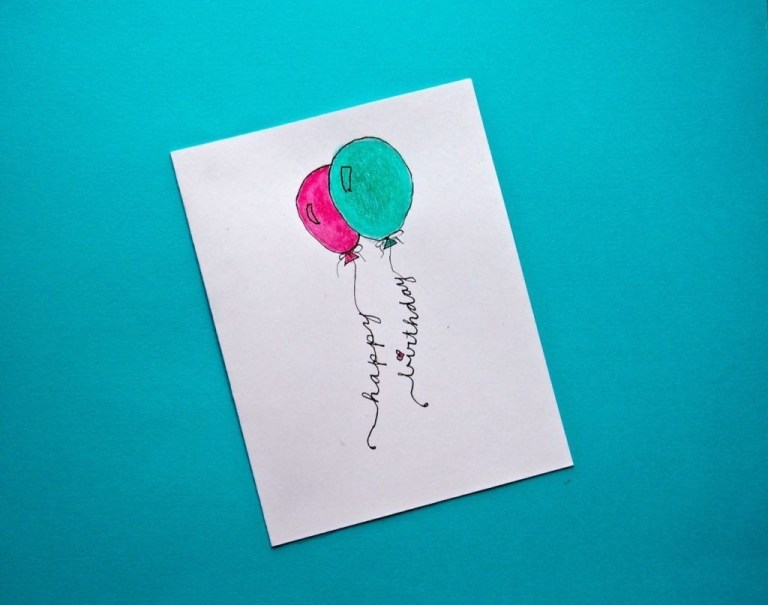 8 super easy diy watercolor birthday cards watercolor