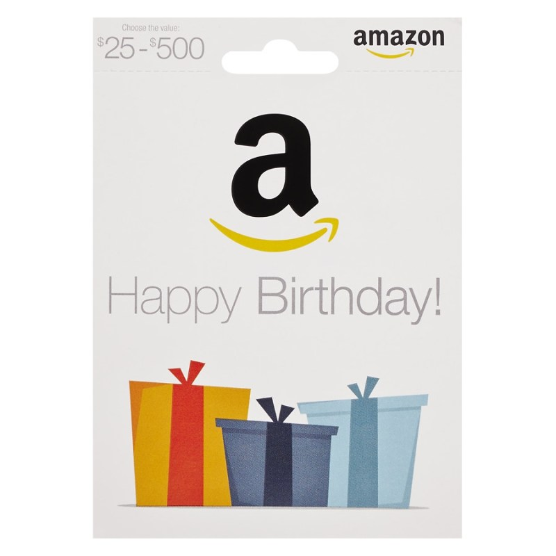 amazon happy birthday non denominational gift card