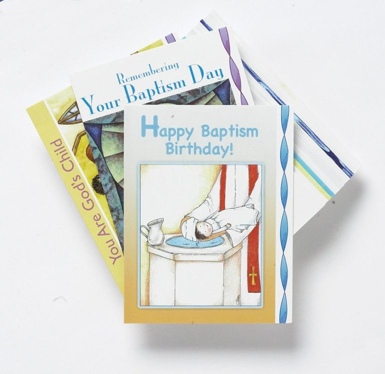 baptism birthday cards