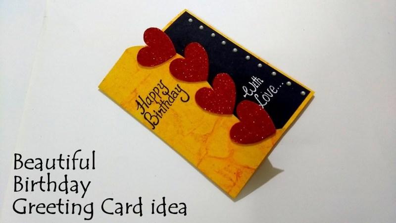 beautiful birthday greeting card idea diy birthday card complete tutorial