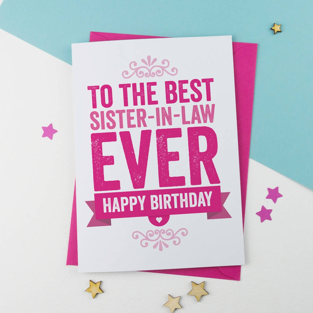 birthday card for sister in law