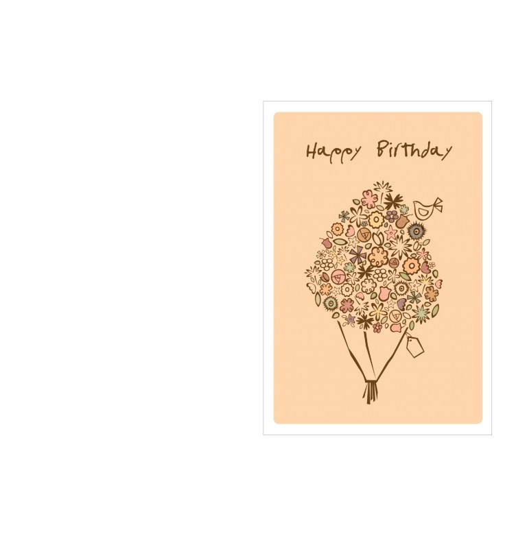 birthday card template happy birthday bouquet free download