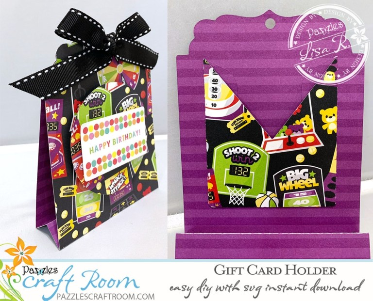 birthday gift card holder easy diy with instant svg download
