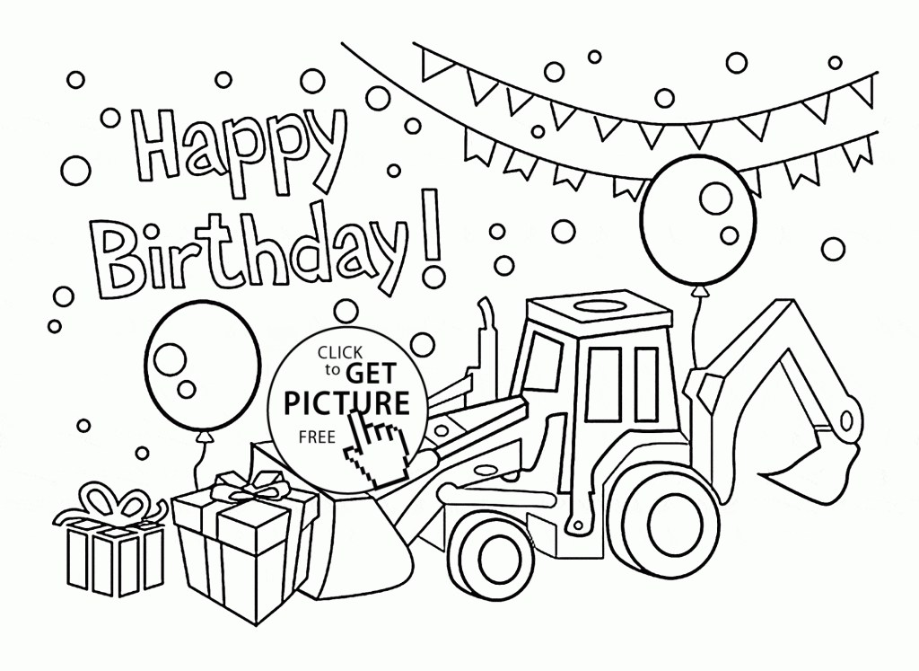 coloring book coloring birthday pictures printable cards