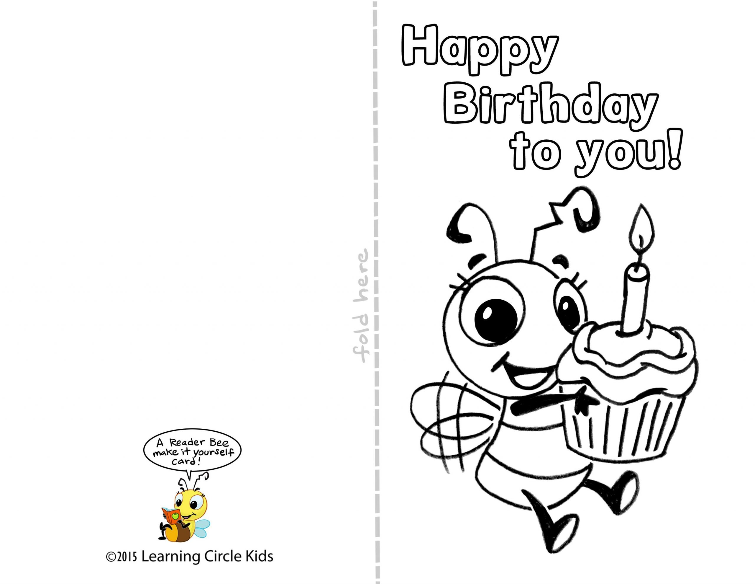 Funny And Printable Birthday Cards For Kids Free Candacefaber