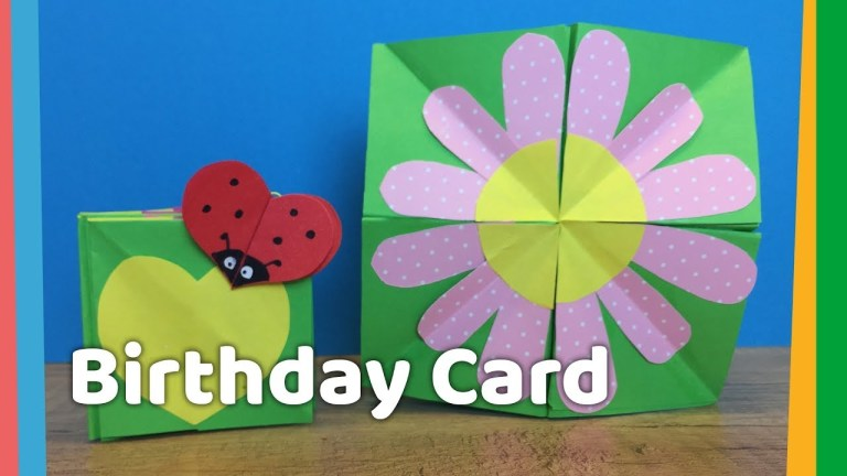 diy kids birthday card monte