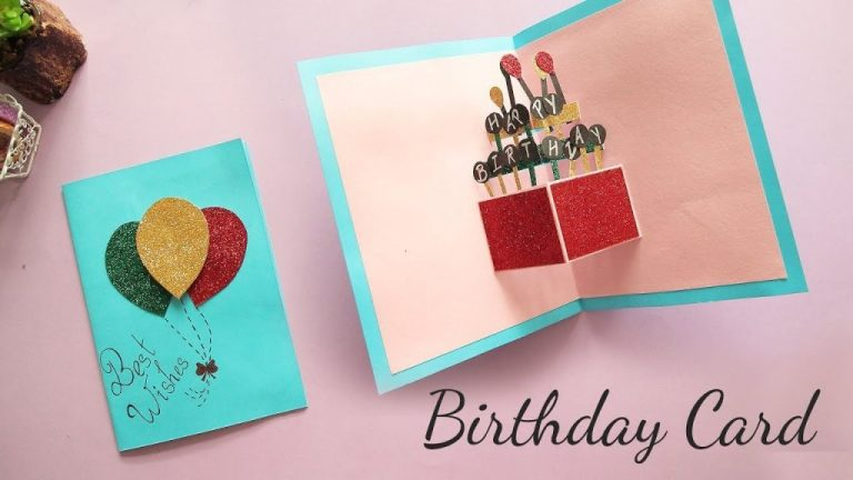 diy pop up birthday card card making handmade card