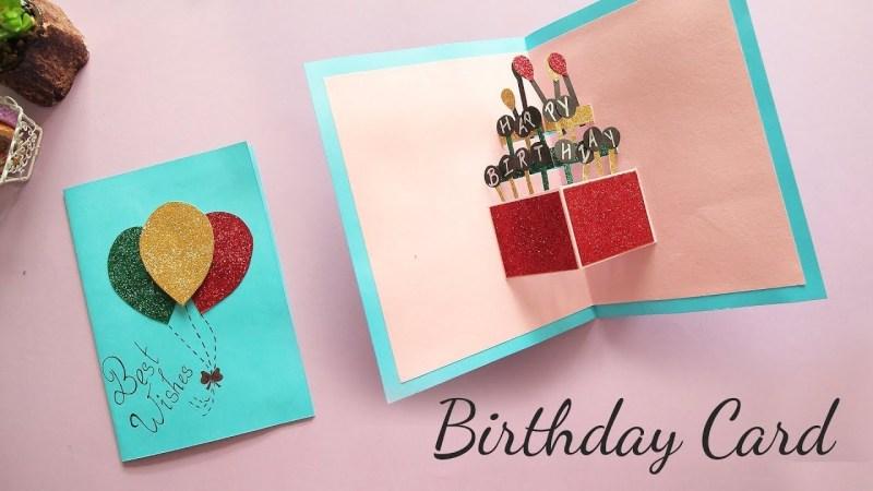 diy pop up birthday card card making handmade card