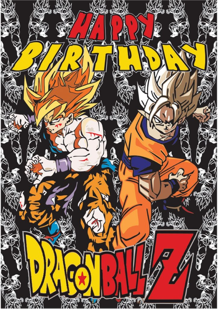dragon ball z birthday cards free printable cards