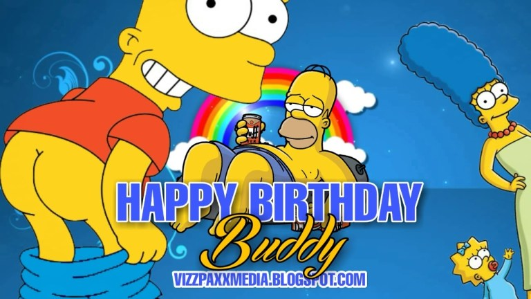ecards best free funny animated simpsons happy birthday