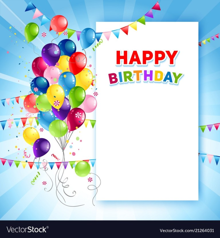 festive happy birthday card template