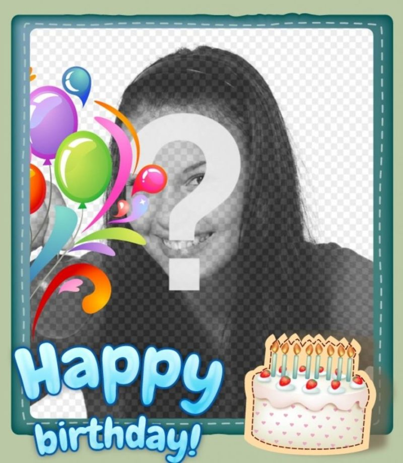 free birthday card customizable with a photo