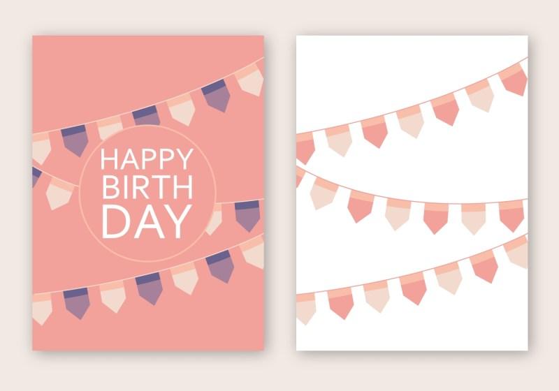 free happy birthday card vektor download kostenlos vector