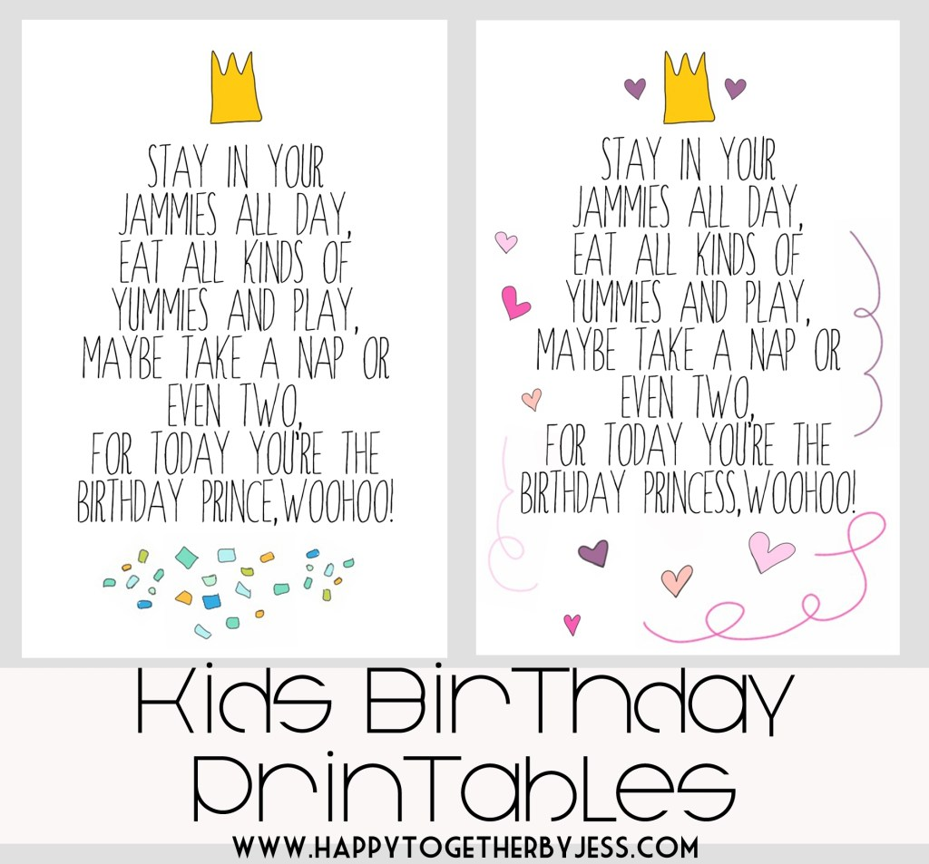free kids birthday printable