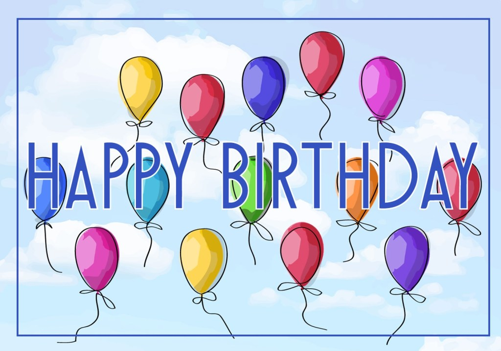 free vector illustration of a happy birthday greeting card