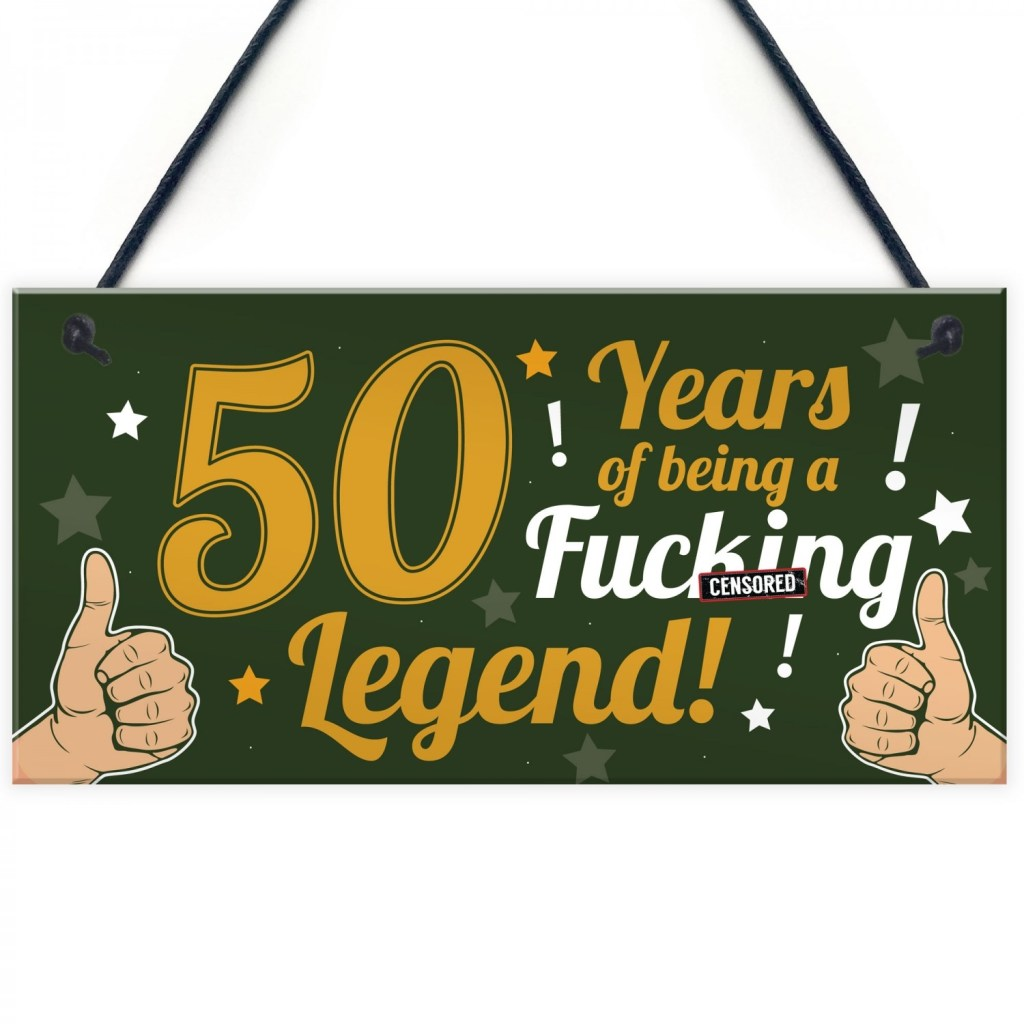 funny 50th birthday present for men women 50th birthday card