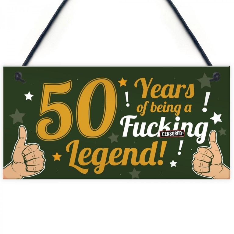 funny 50th birthday present for men women 50th birthday card