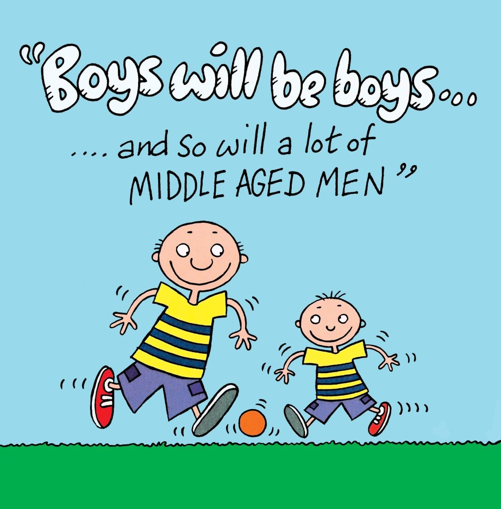 funny card about middle aged men tw527