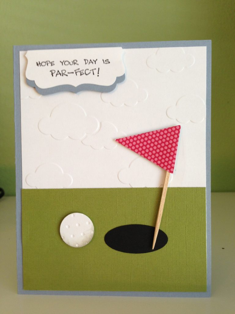 golf card birthday cards for men diy cards for dad