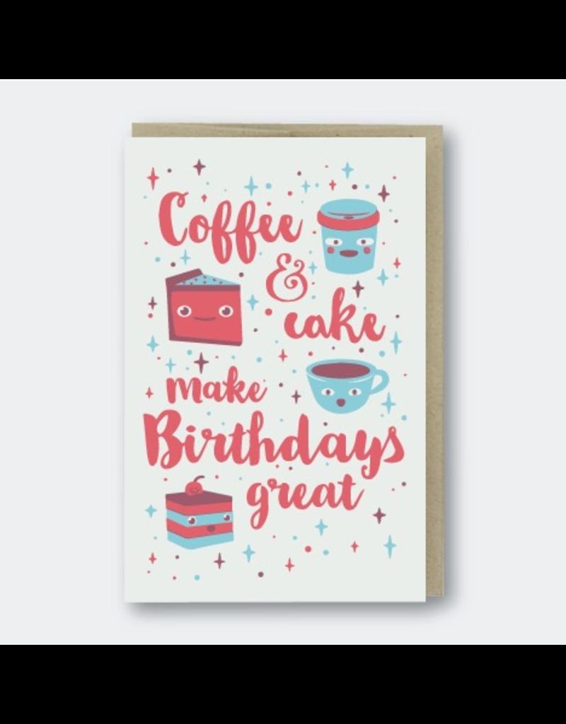 greeting cards birthday coffee cake birthday greeting card