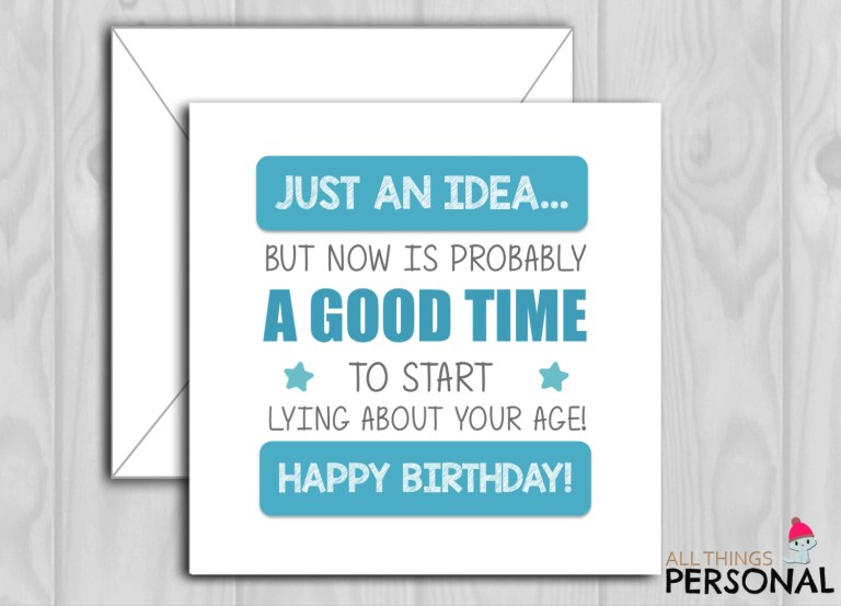 greeting cards funny happy birthday card perfect for men or