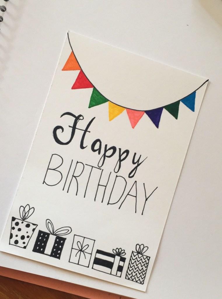 handmade birthday card happy birthday geburtstagskarte