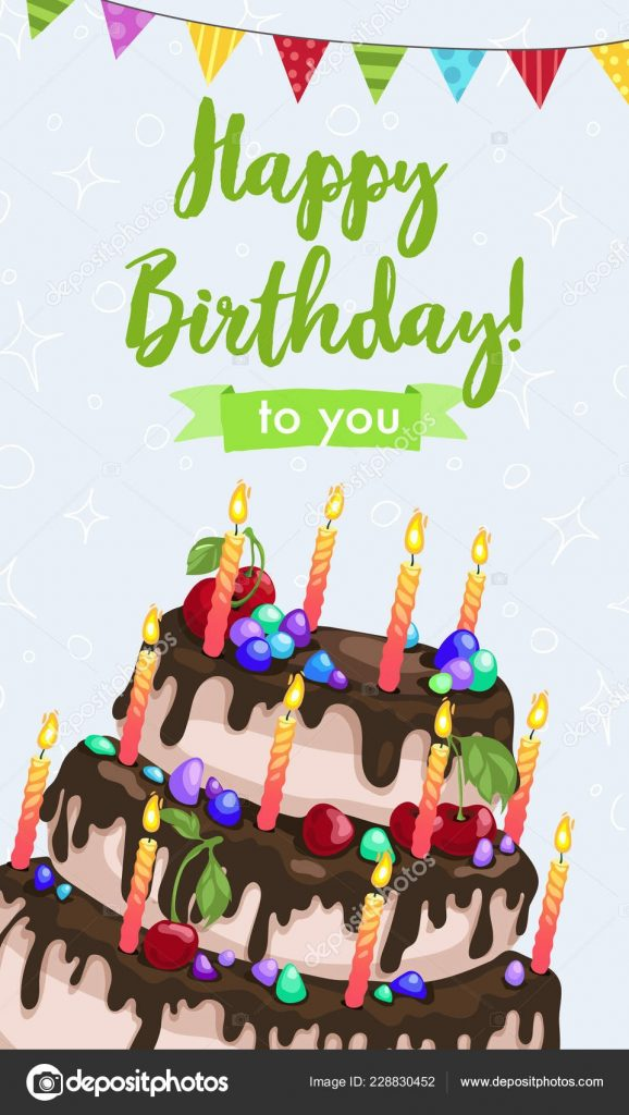 happy birthday greeting card stock vector ollymolly