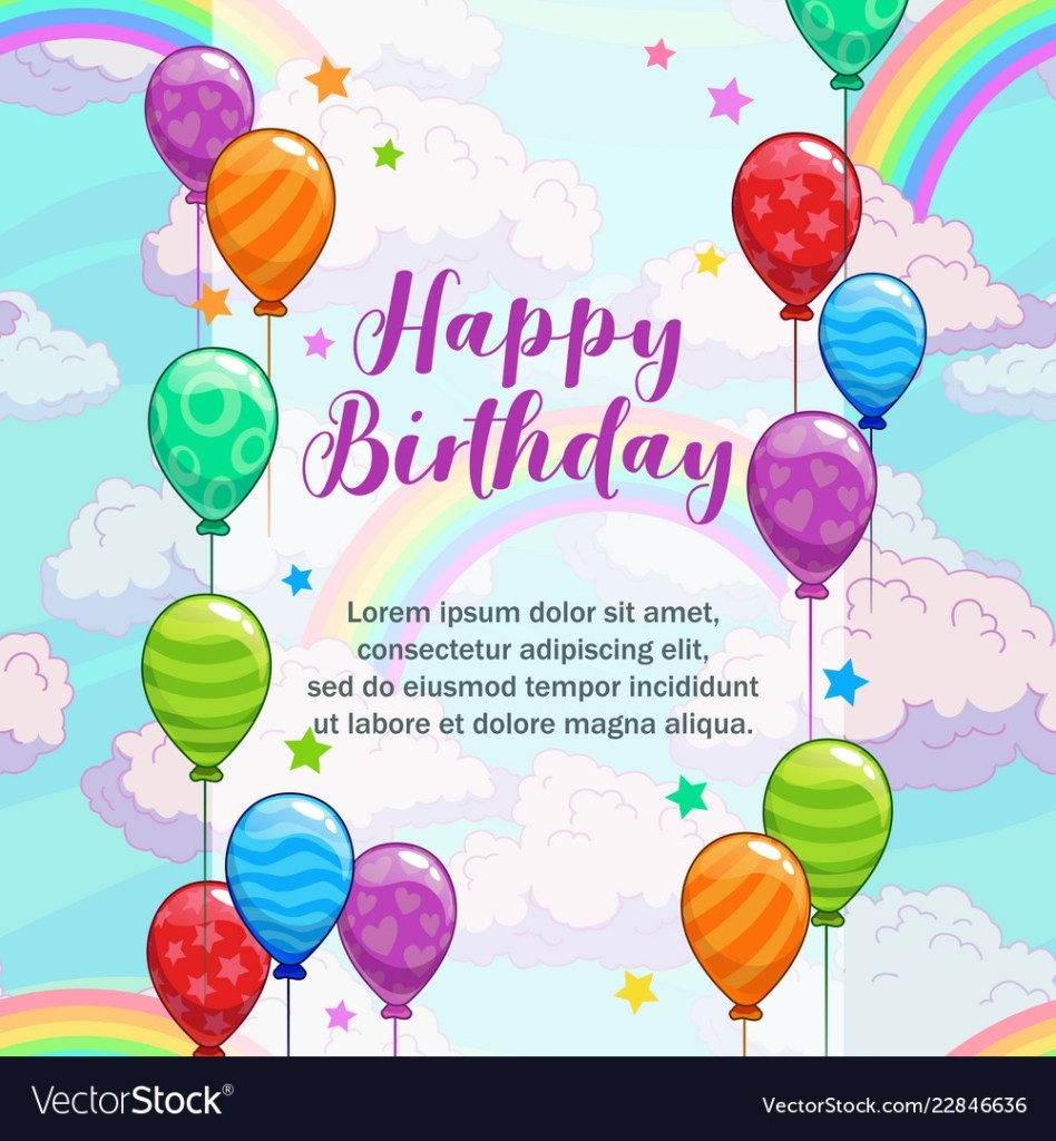happy birthday greetings greeting card with