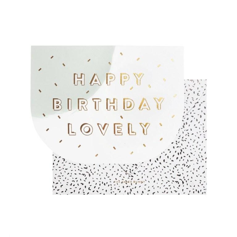 happy birthday lovely card