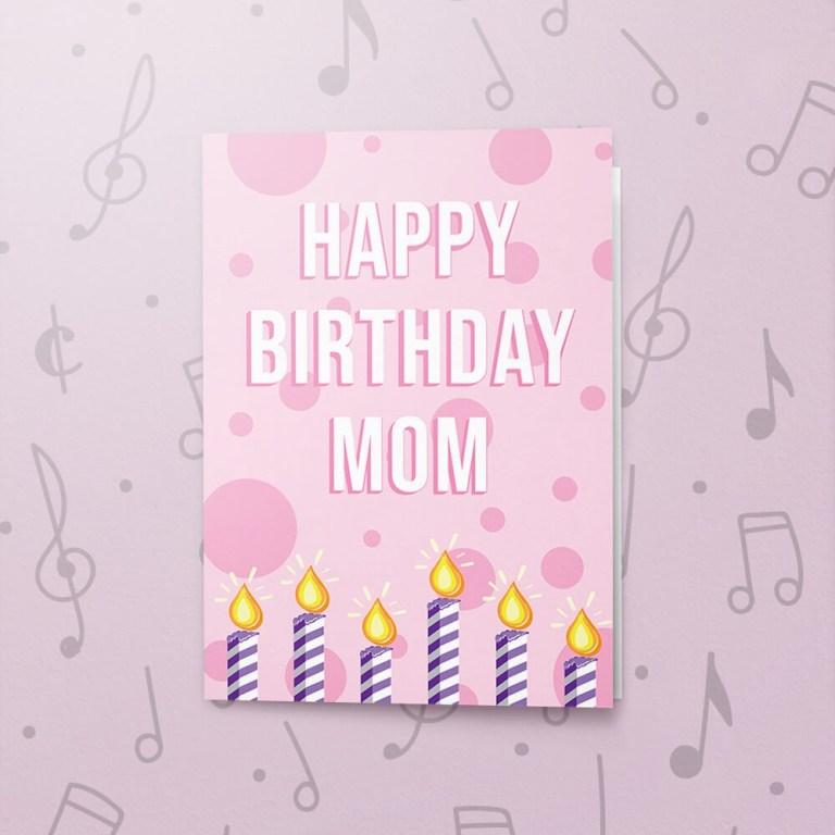 happy birthday mom musical birthday card