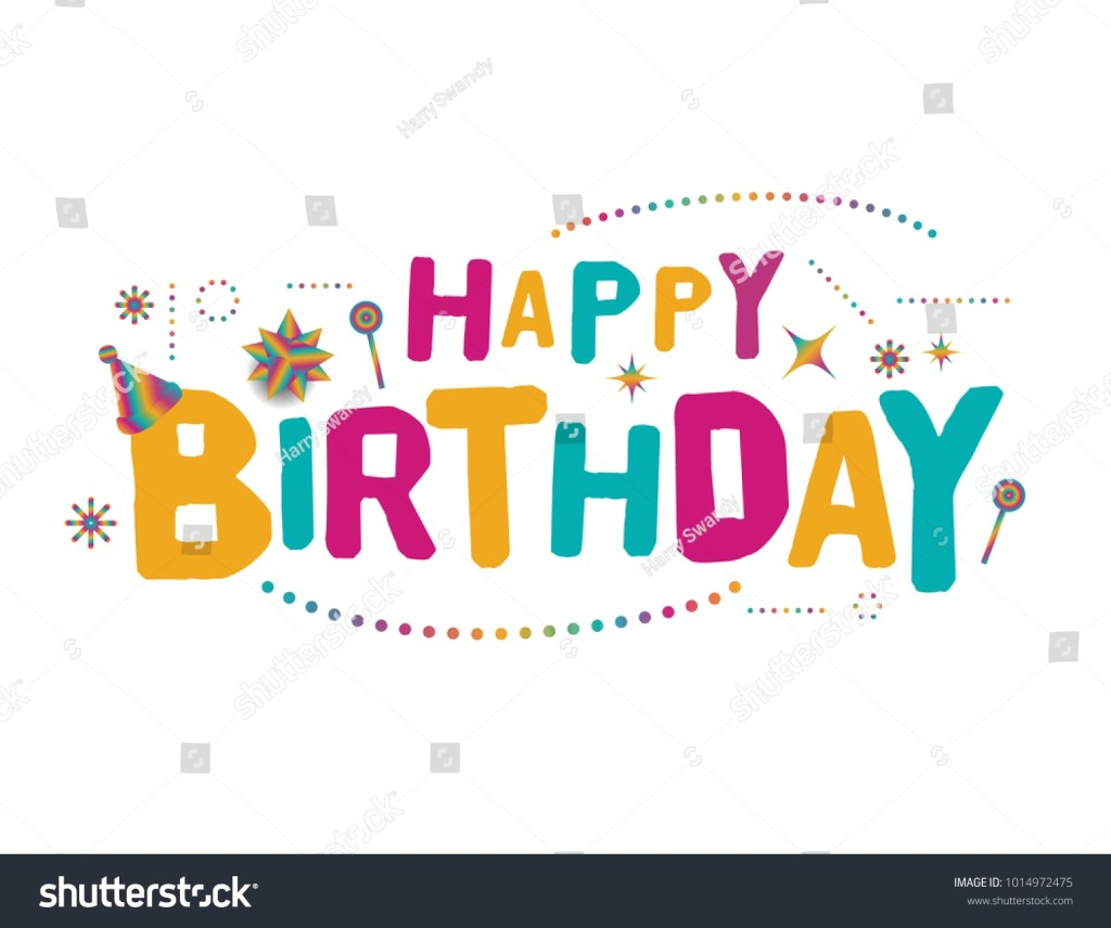 happy birthday vector template design colorful stock