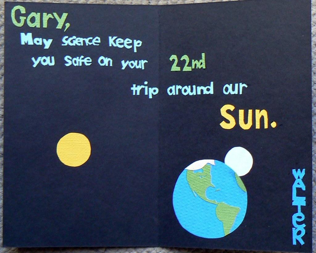 homemade birthday card inside the card i made for gary t