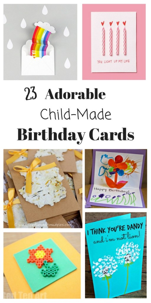 homemade birthday cards for kids to create how wee learn