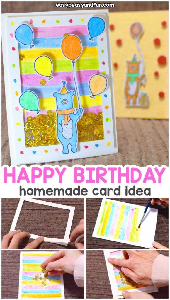 how to make a birthday shaker card homemade birthday card