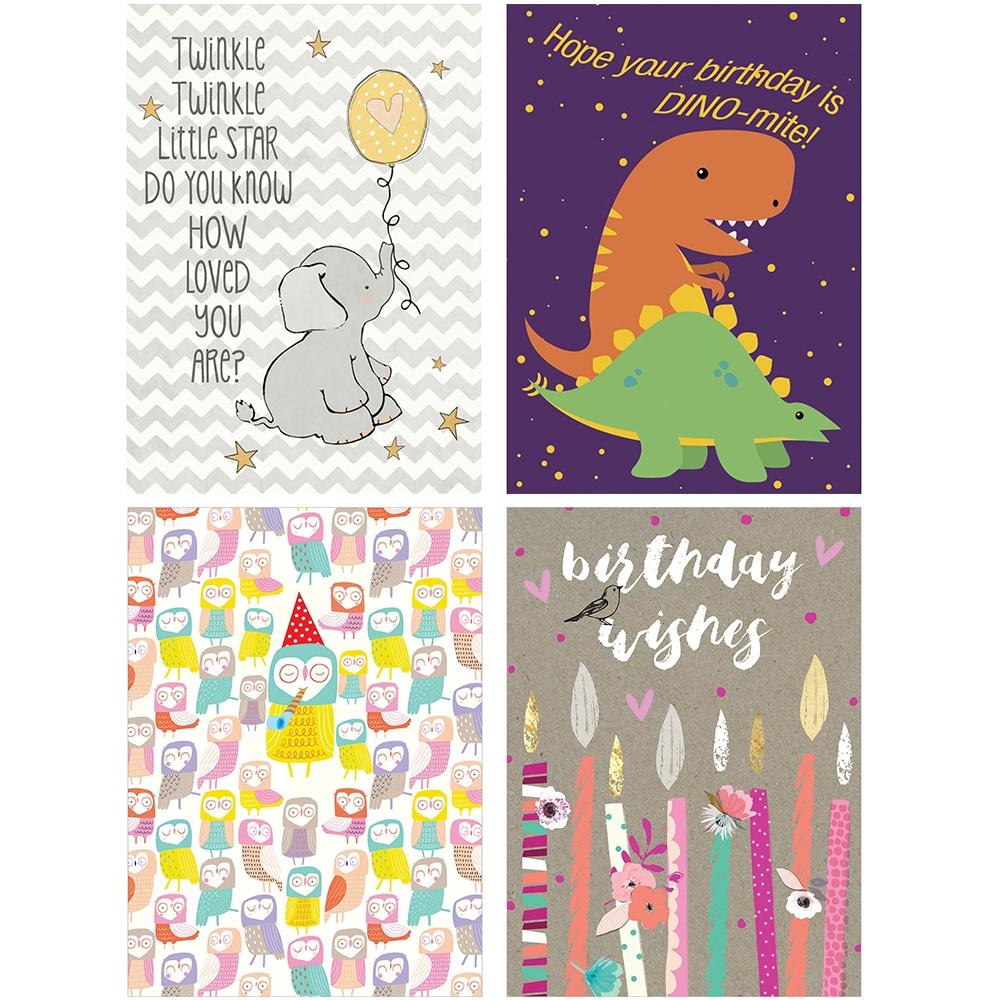 kids birthday cards 8 pk