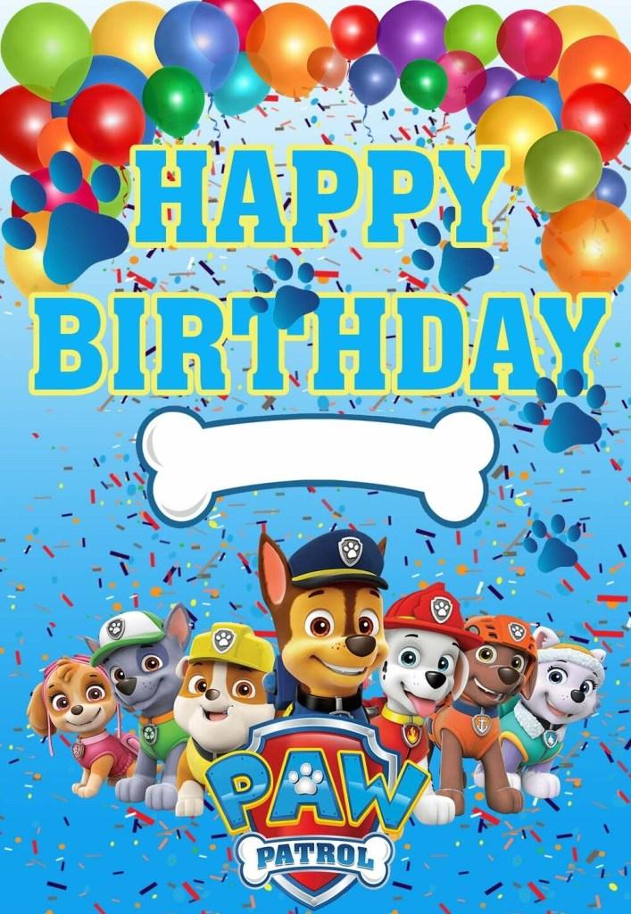 paw patrol printable birthday cards printbirthdaycards