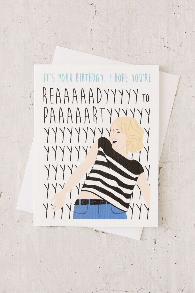 perks of aurora ready to party birthday card birthday