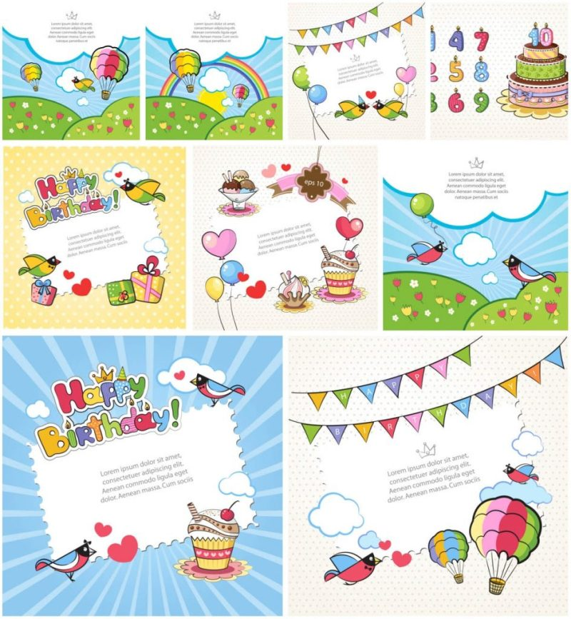 printable birthday cards for kids vector graphics blog
