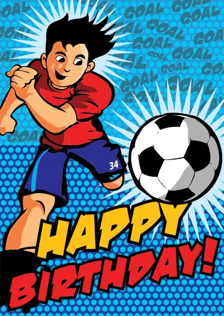 soccer birthday card free printable birthday cards