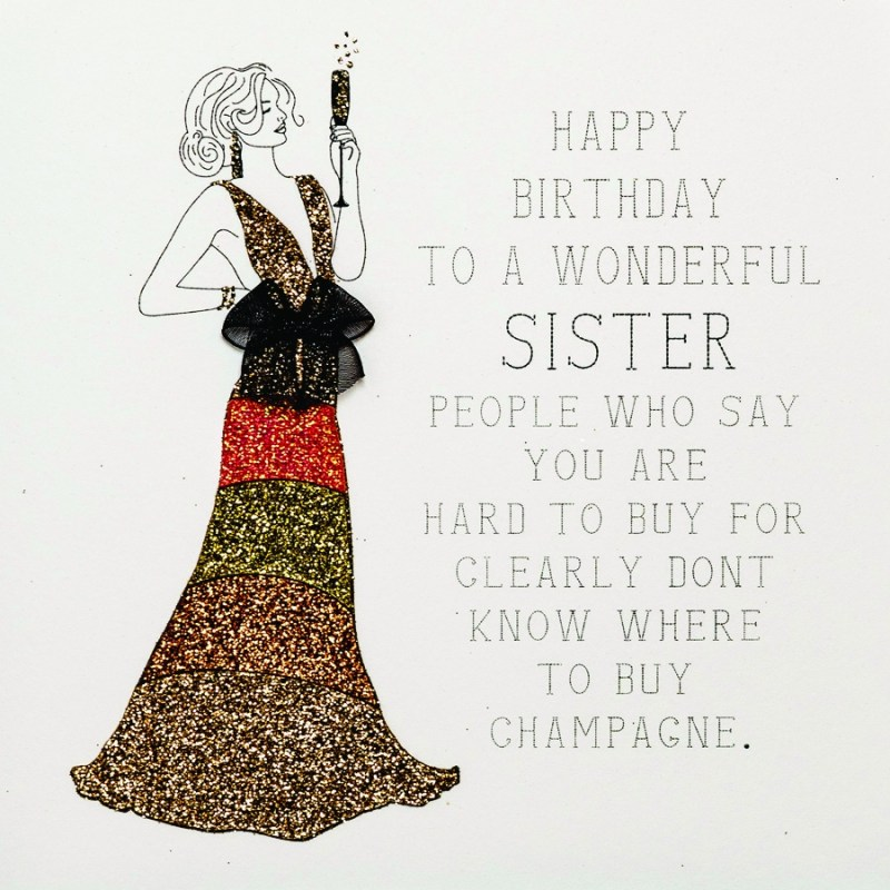 to a wonderful sister handmade birthday card rb27