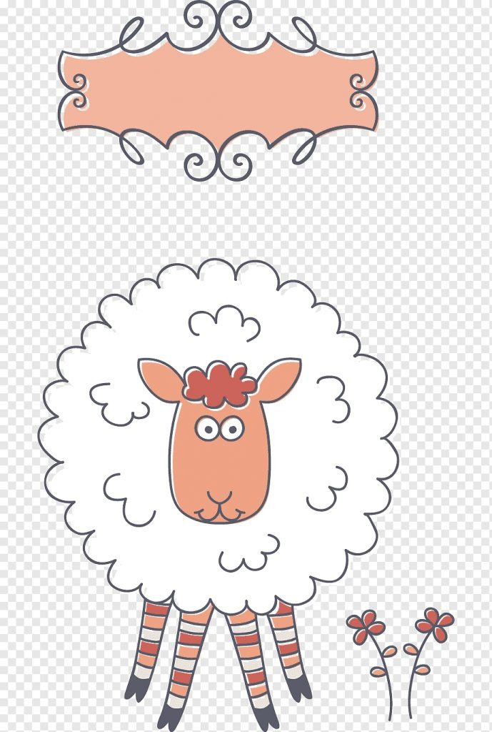 white sheep illustration sheep birthday greeting card e