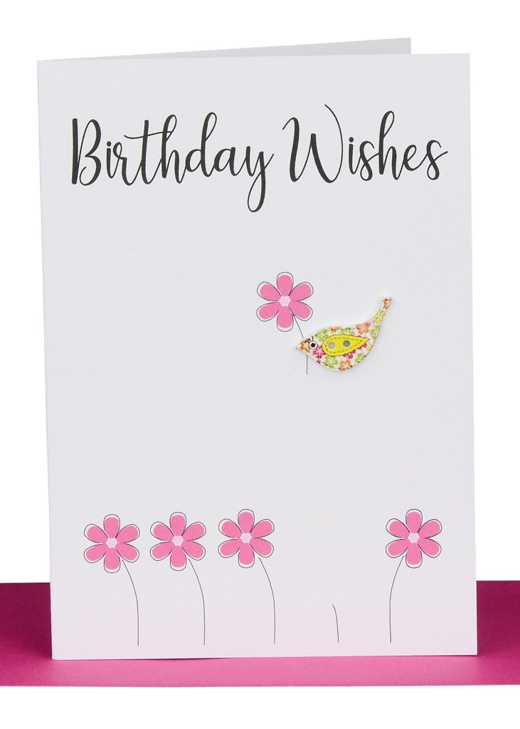 wholesale birthday wishes greeting card bird lbg 252