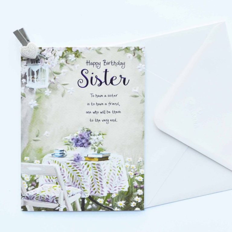 words of warmth sister birthday card