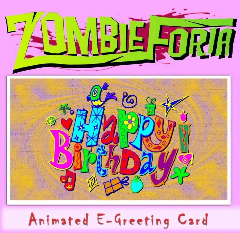 zombieforia e card zombie birthday card