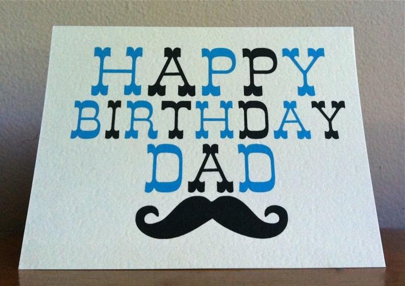 dad birthday card happy birthday dad moustache card