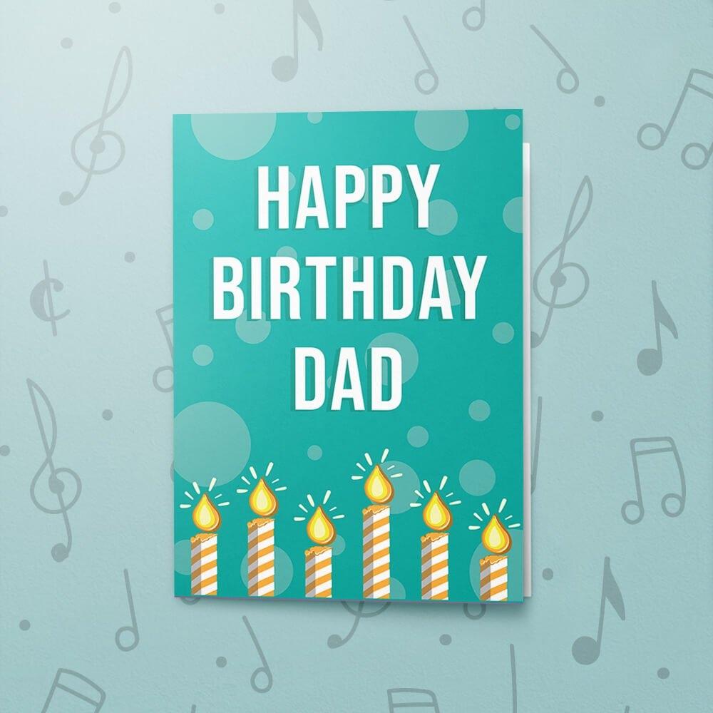 happy birthday dad musical birthday card