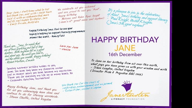 happy birthday jane austen the jane austen literacy