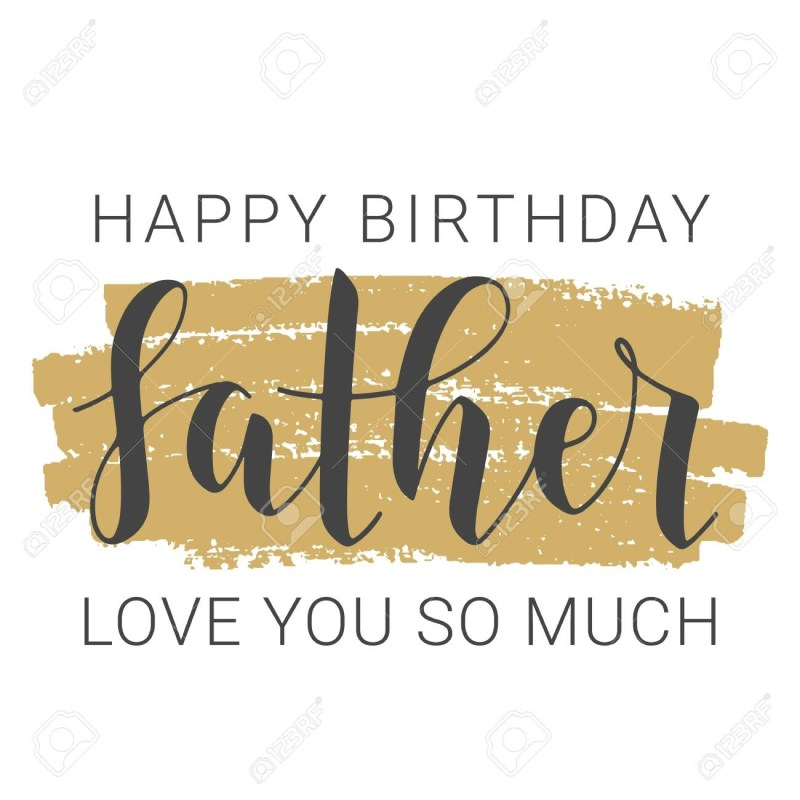 vector illustration handwritten lettering of happy birthday