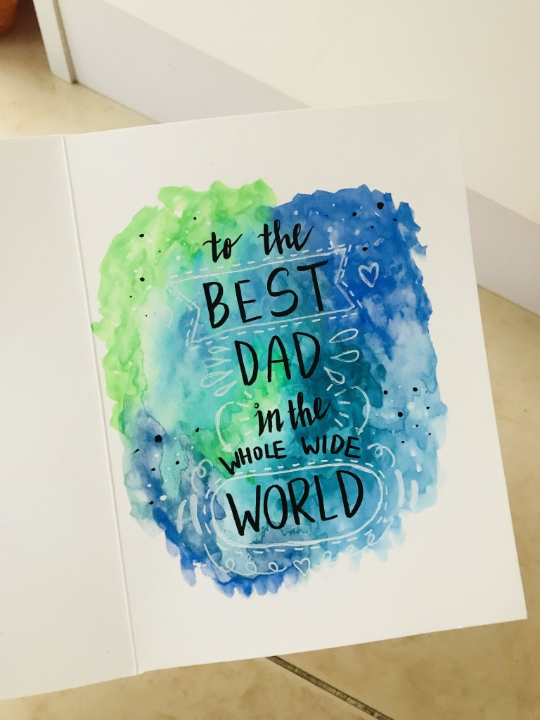 watercolor birthday card for dads dad birthday card