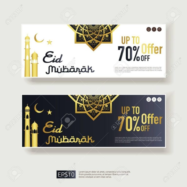 eid al adha sale offer banner design